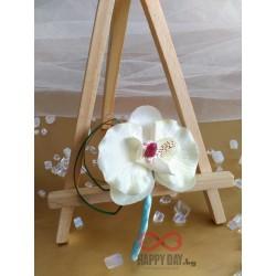 Сватбена бутониера за ревер Орхидея