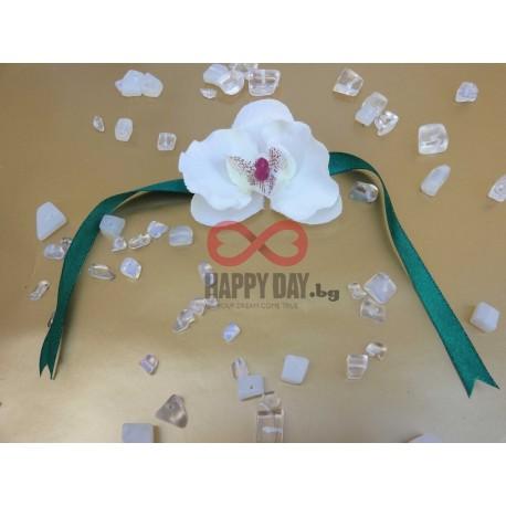 Сватбена бутониера-гривна Орхидея