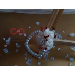 Сватбена бутониера за ръка - гривна Ралица