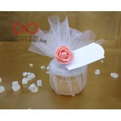 Сватбено подаръче за гостите - Бурканче с мед Органз