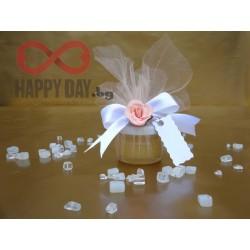 Сватбено подаръче за гостите - Бурканче с мед Кристъл