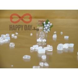 Сватбен подарък за гости - шишенце Снежинка