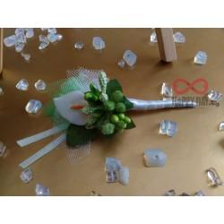 Сватбена бутониера за ревер Кала грийн
