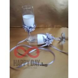 Декорирани светбени чаши Лидия