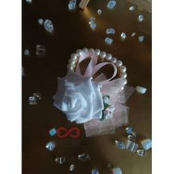 Сватбена бутониера за ръка - гривна Мария