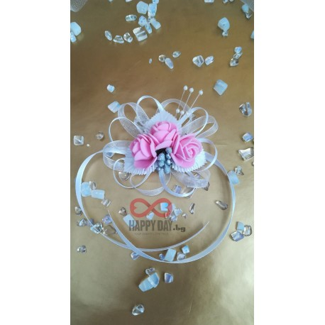 Сватбена бутониера за ръка - гривна Вира