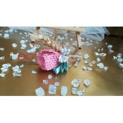 Сватбена бутониера за ревер Миа (зебло)