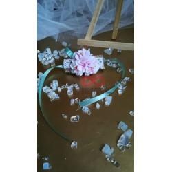 Сватбена бутониера за ръка - гривна Фрея 1