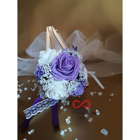 Сватбен букет за хвърляне / шаферски букет Краси