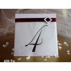 Сватбена Табелка с номер на маса Прима