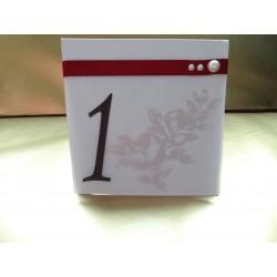 Сватбена Табелка с номер на маса Пърл